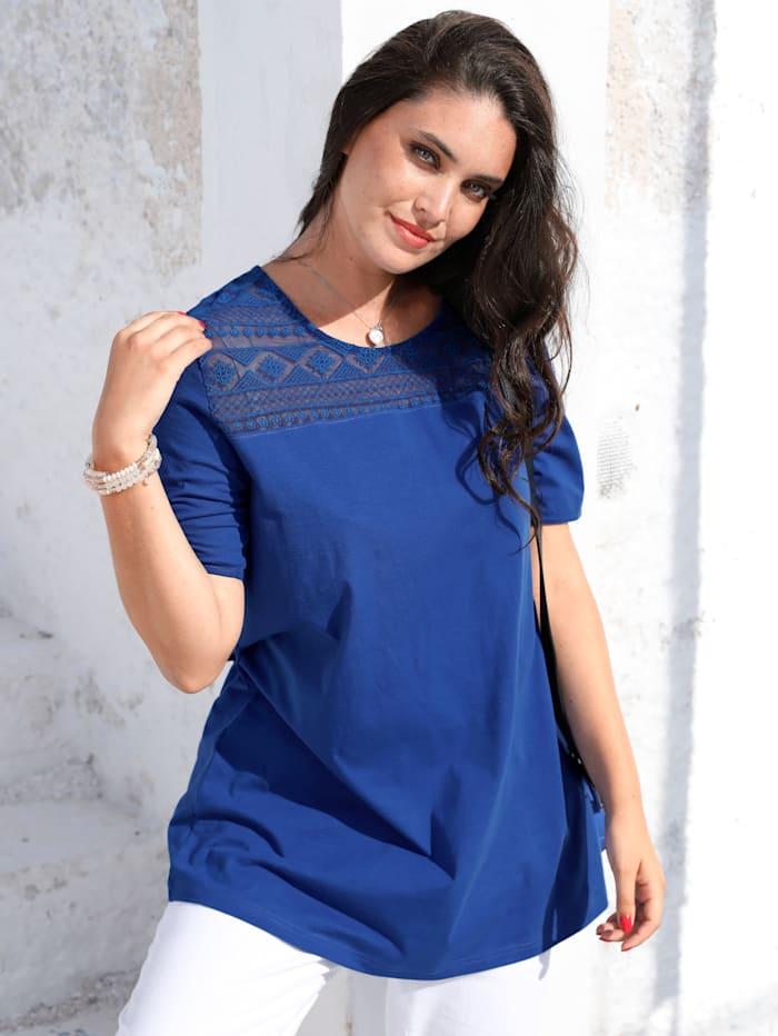 MIAMODA Longshirt met kant, Royal blue