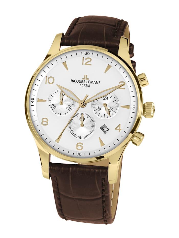 Jacques Lemans Herren-Chronograph Serie: London, Kollektion: Classic  1-1654.2ZD, Braun