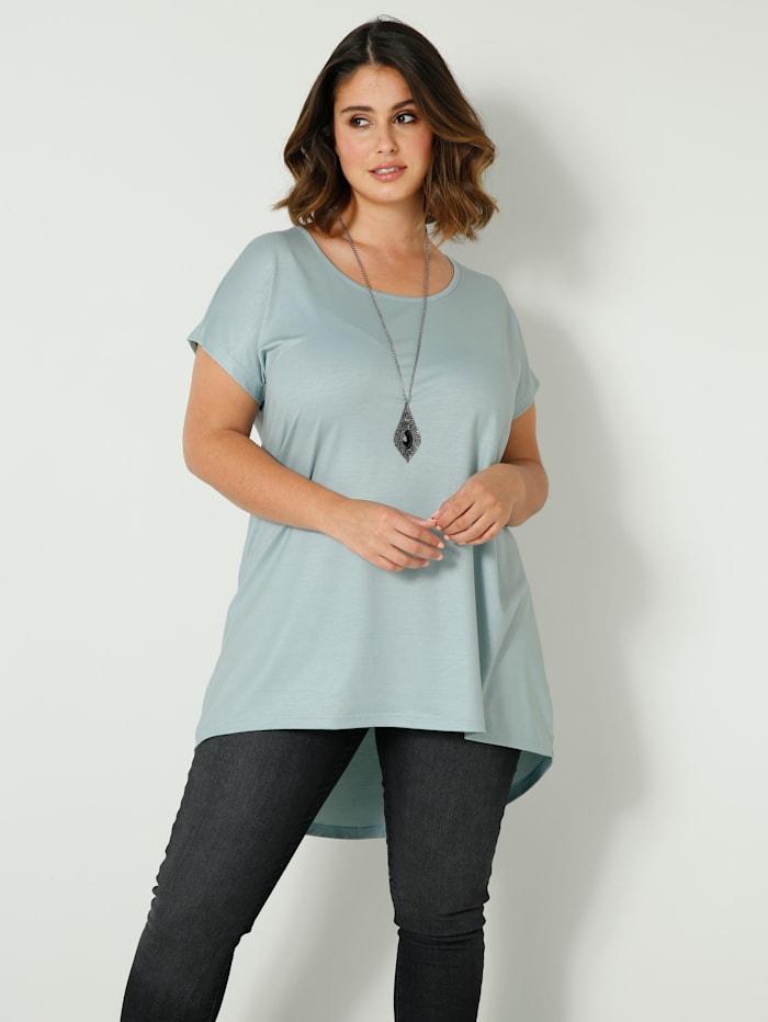 Sara Lindholm Shirt met langere achterkant, Jadegroen