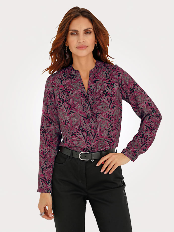 Blouse in a paisley print
