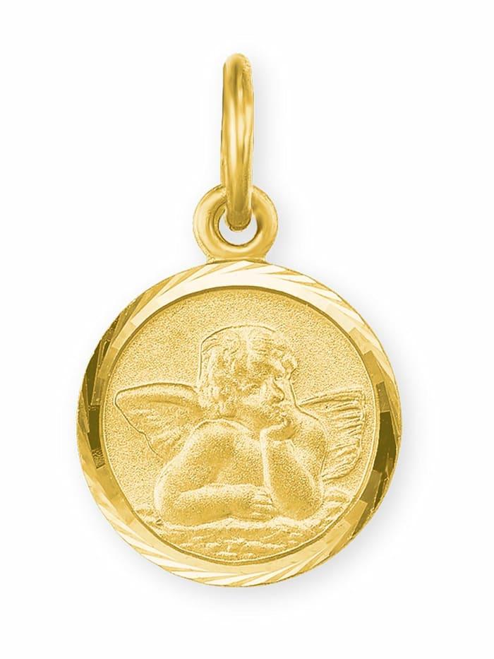 amor Anhänger Unisex, Gold 585, Engel, Gold