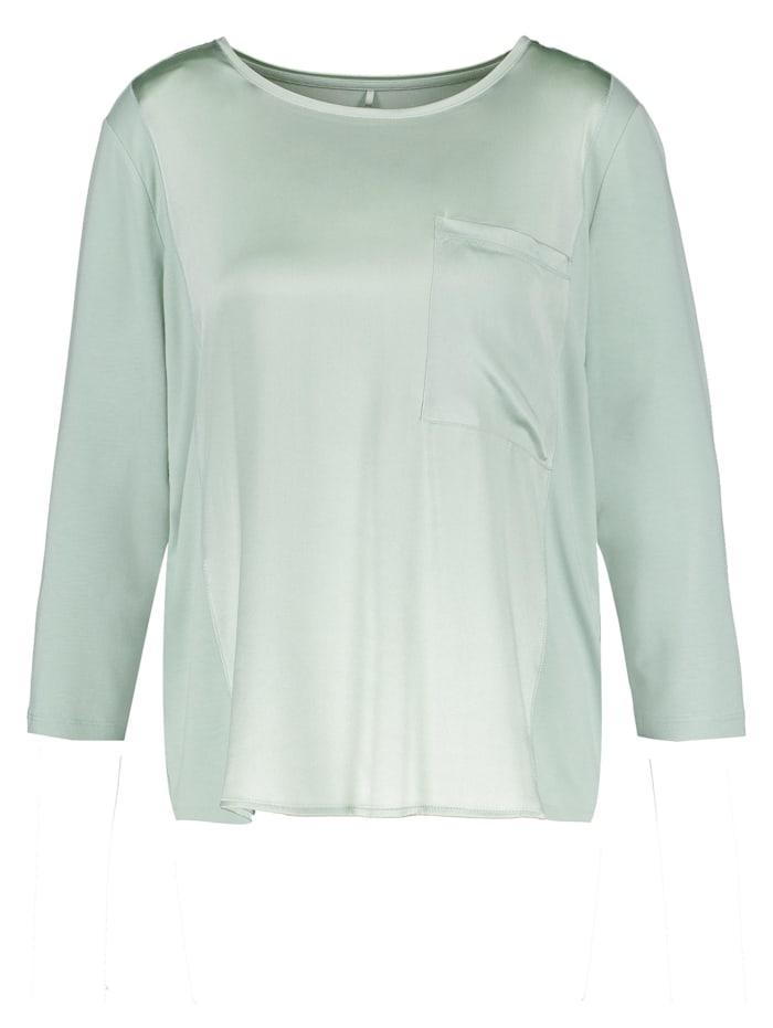 Gerry Weber 3/4 Arm Shirt mt Seidenfront, Soft Mint