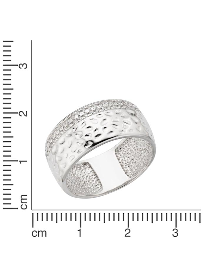 Ring 925/- Sterling Silber Zirkonia weiß Glänzend 925/- Sterling Silber