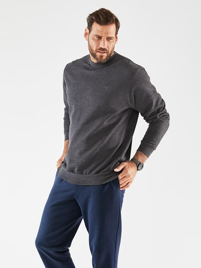 Men Plus Sweatshirt van zuiver katoen, Donkergrijs