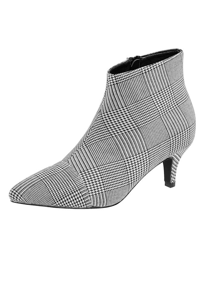 Liva Loop Ankle boot met trendy princes-de-gallesdessin, Grijs