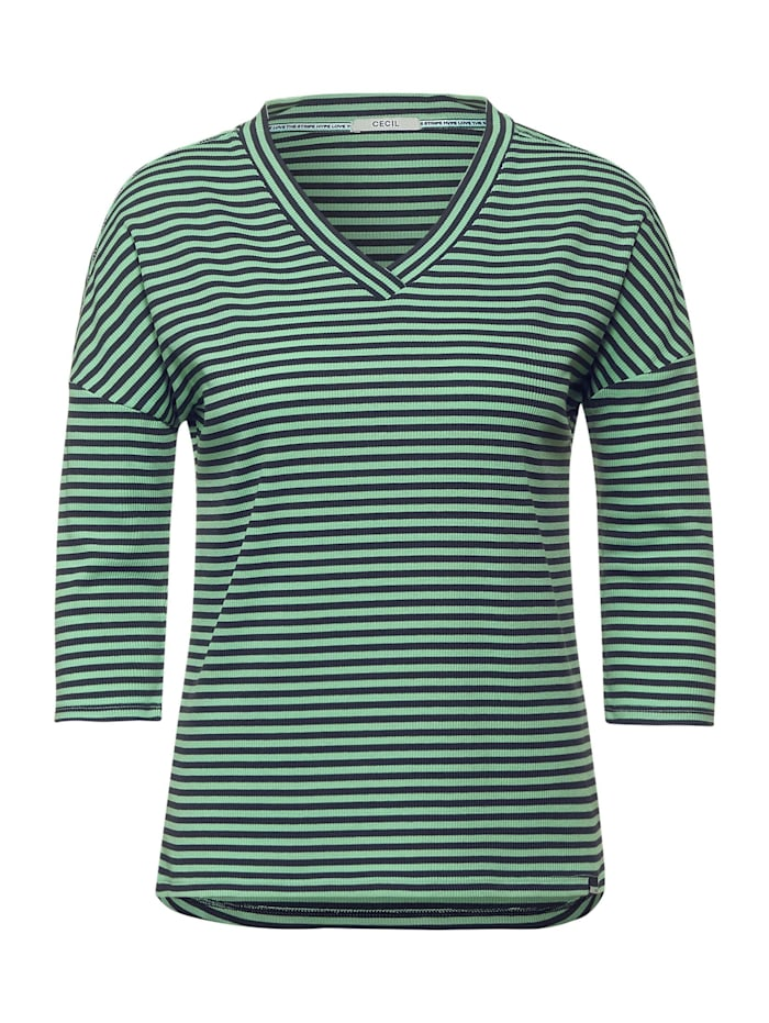 Cecil Shirt mit Streifen, bud green