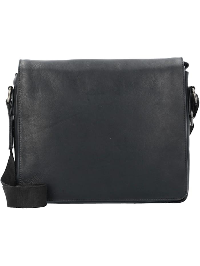 Leonhard Heyden Roma Messenger Leder 31 cm Laptopfach Tragegriff, Stiftelaschen, Schlüsselhalter, schwarz