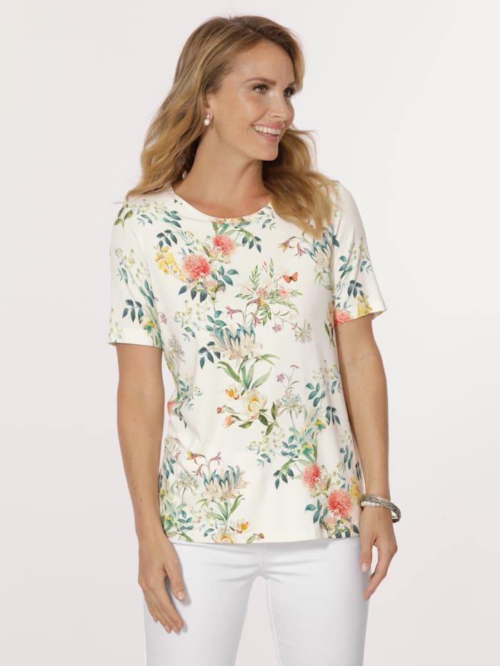 MONA Shirt met bloemendessin, Ecru/Multicolor