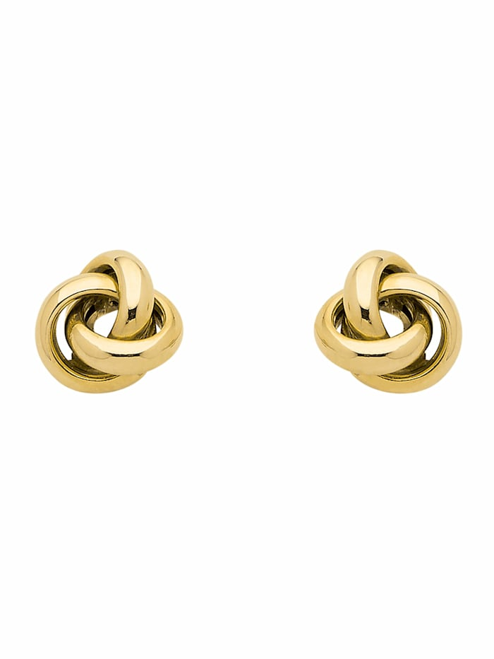 1001 Diamonds 1001 Diamonds Damen Goldschmuck 333 Gold Ohrringe / Ohrstecker Knoten, gold