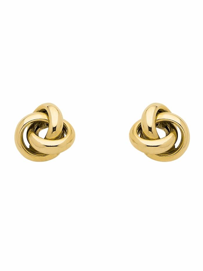 1001 Diamonds Damen Goldschmuck 333 Gold Ohrringe / Ohrstecker Knoten, gold