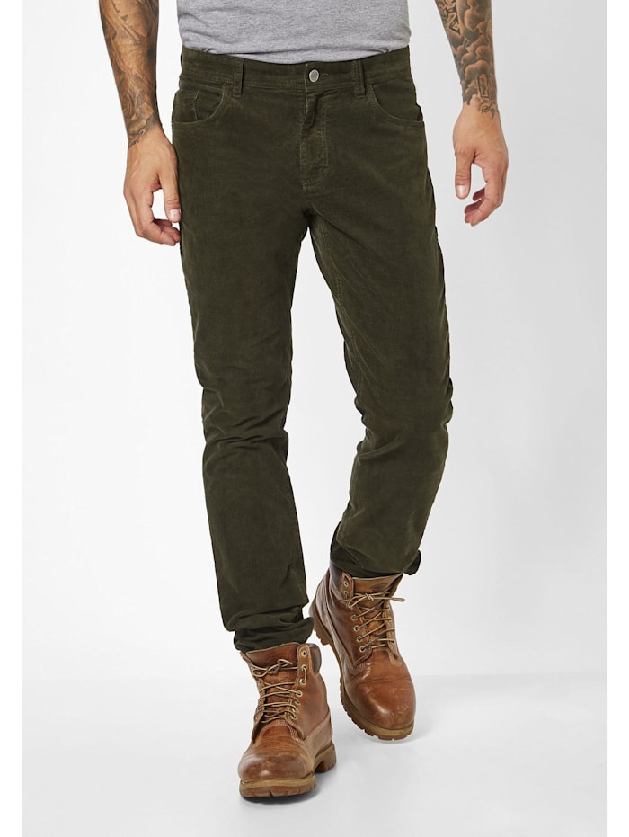 Redpoint modische Cord Stretch 5-Pocket Milton, green