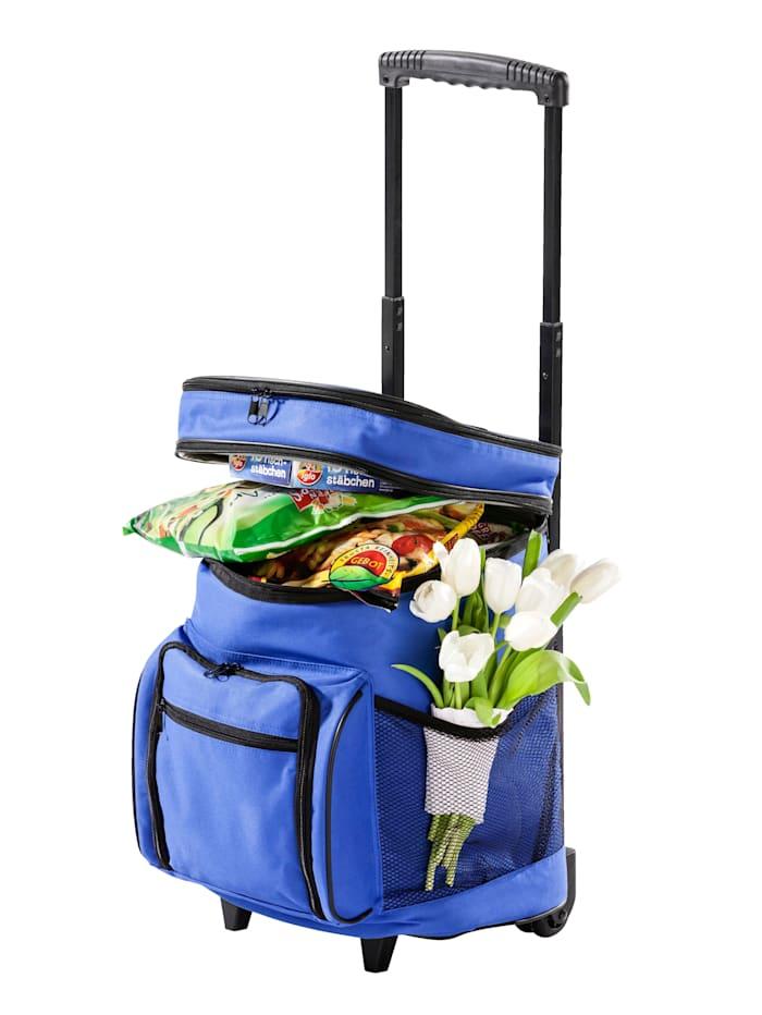 Chladiaci nákupný vozík, modrá