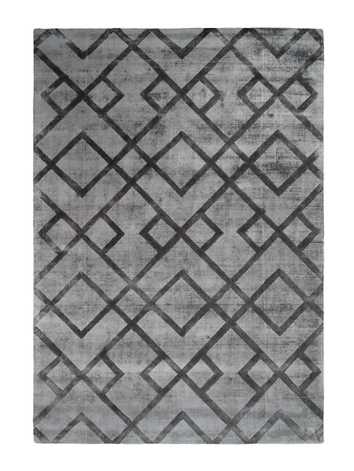 Kayoom Handwebteppich 'Dieter', Anthrazit