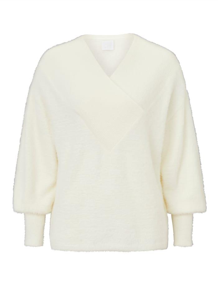 REKEN MAAR Pullover, Creme-Weiß