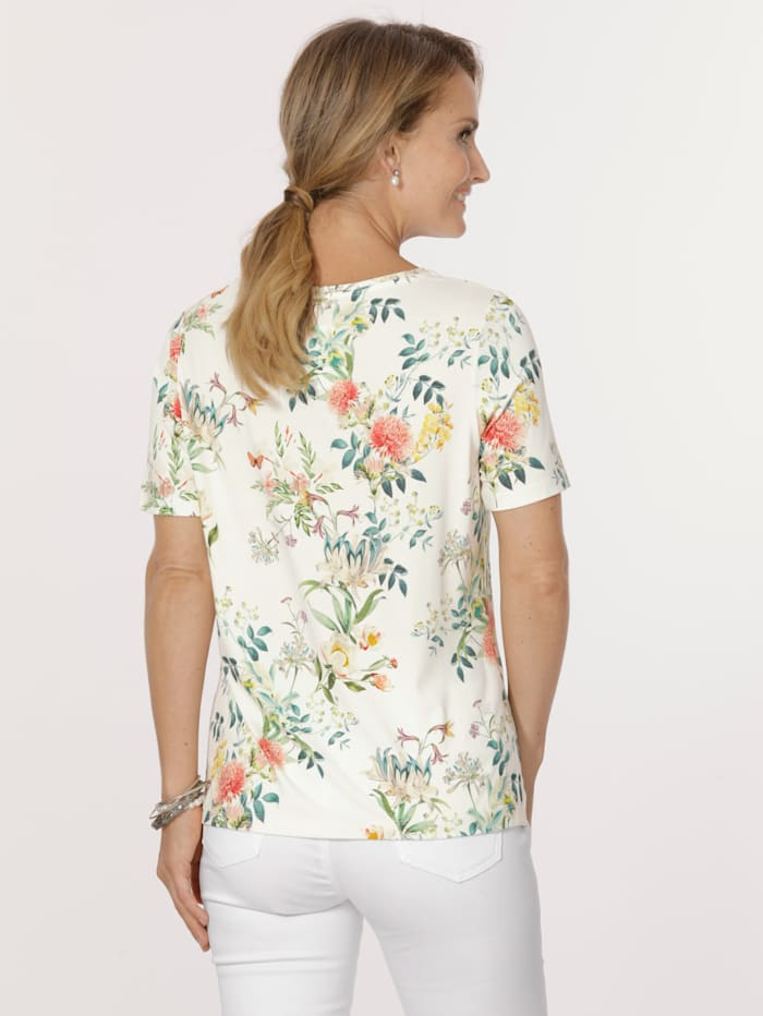 Top with a classic floral print