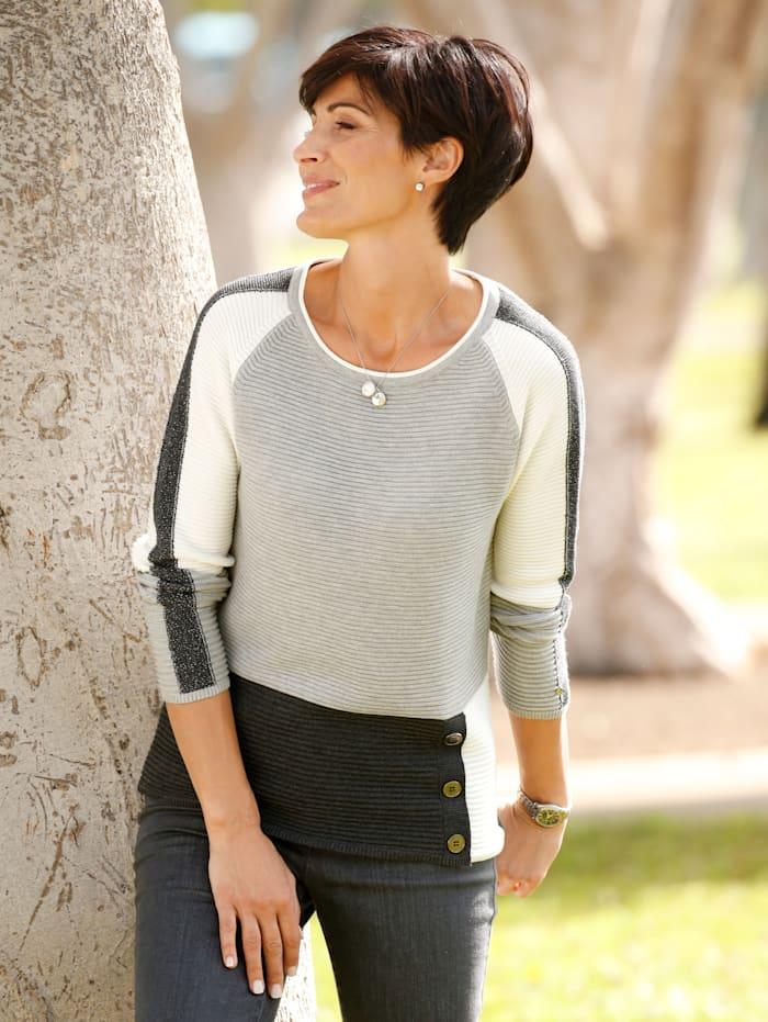 Rabe Pullover von der Marke RABE, Grau/Ecru/Anthrazit