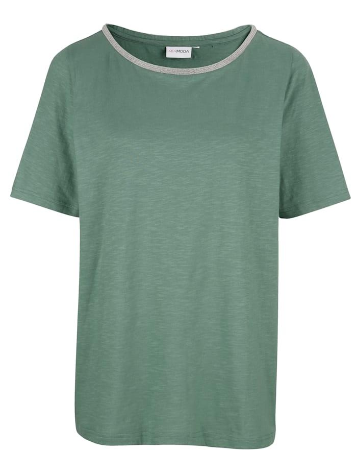 MIAMODA T-shirt à encolure féminine, Vert