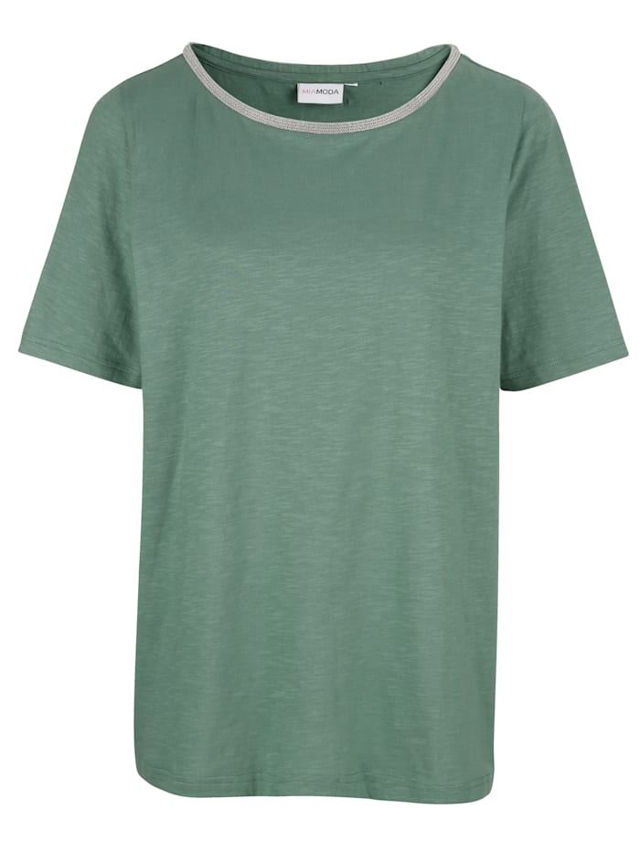 MIAMODA Tričko s hezkým výstřihem, Zelená