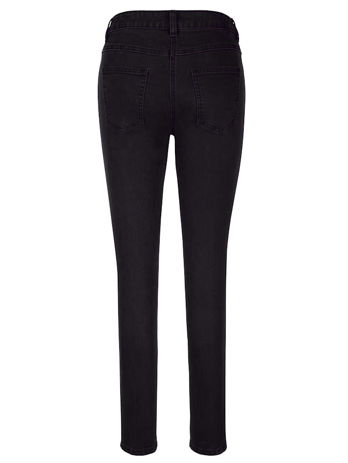 Jeans mit Strasssteindekoration