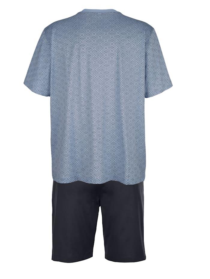 Pyjashort en coton mercerisé