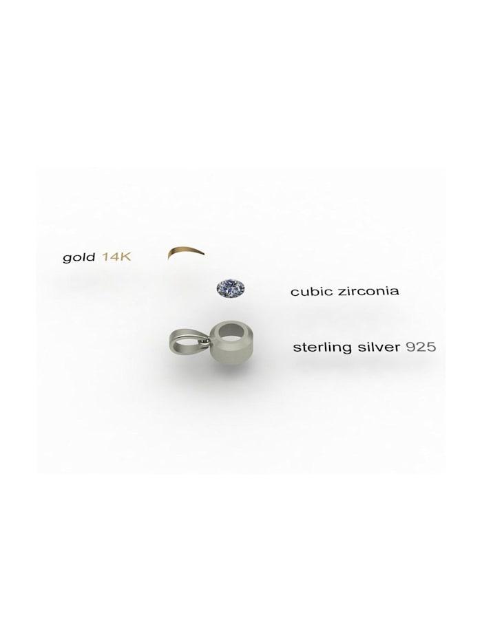 Kette mit Anhänger - Sunny Exklusiv - Silber 925/000 & Gold 585/000 -
