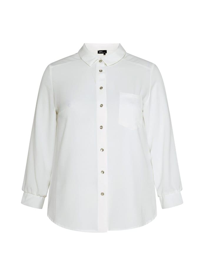 SPGWOMAN Hemdbluse Shirt unifarben, white