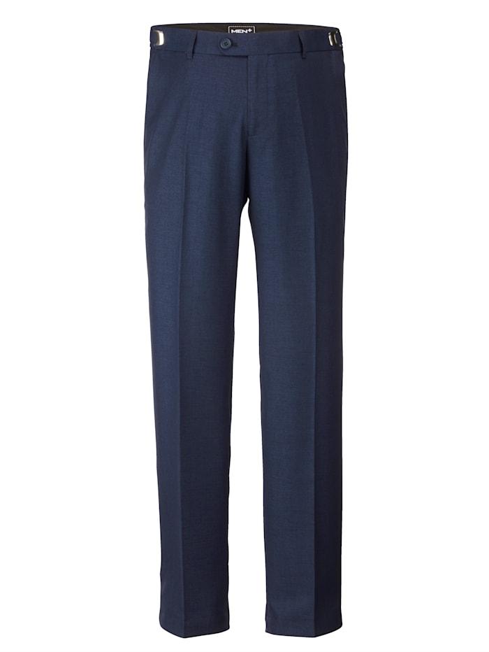 Men Plus Nohavice, stavebnicová séria v Regular Fit strihu, Dymová modrá