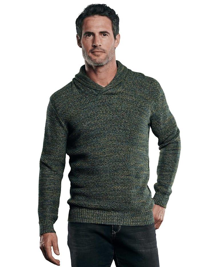Engbers Pullover mit Schalkragen, Tannengrün