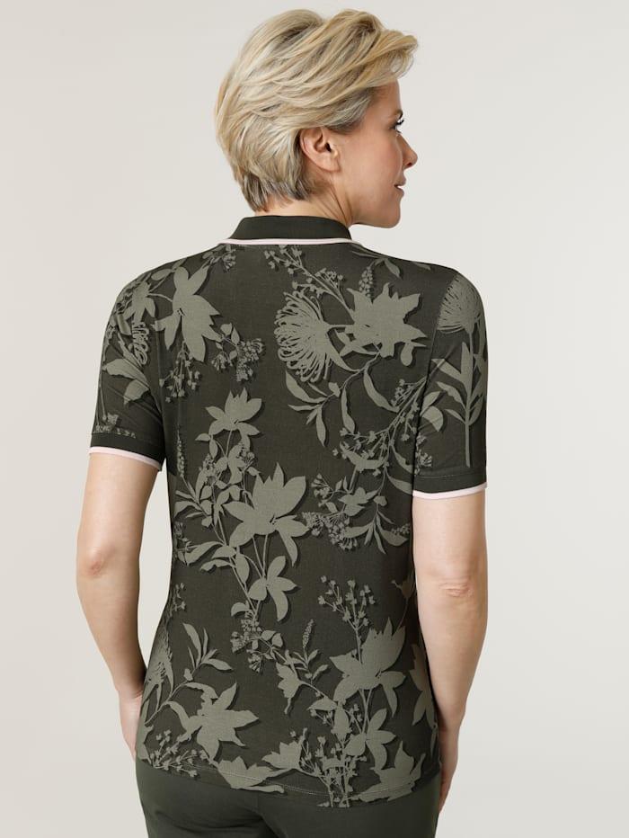 Poloshirt mit angenehmem Strickkragen