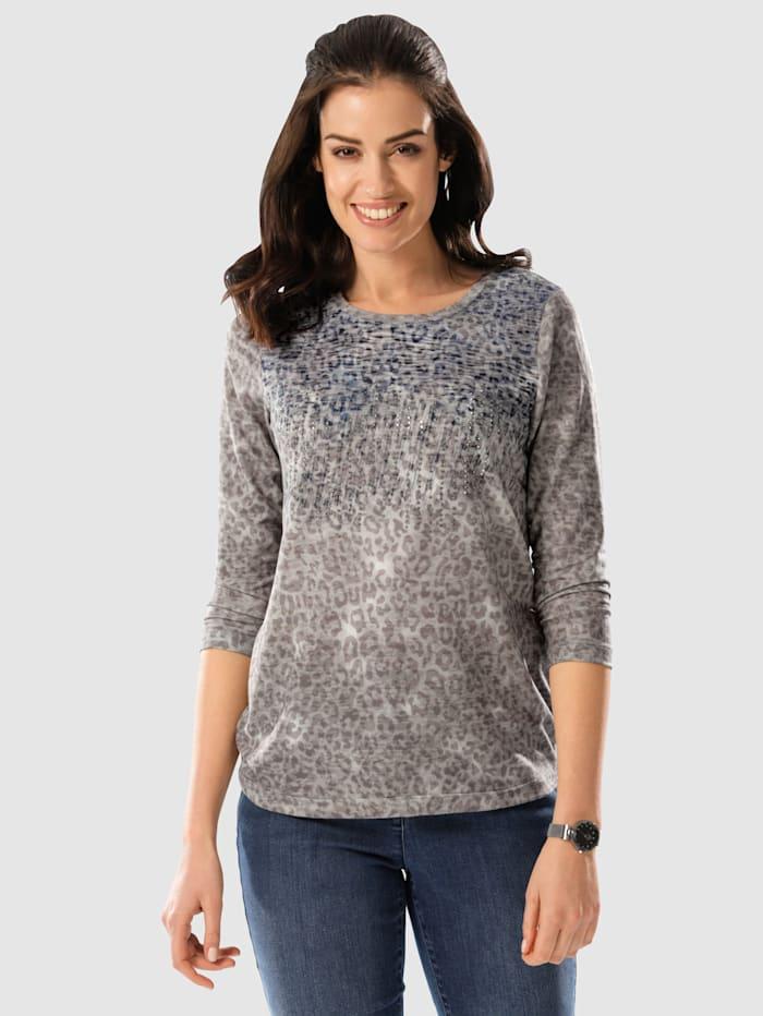Paola Shirt mit Zierplättchen, Taupe