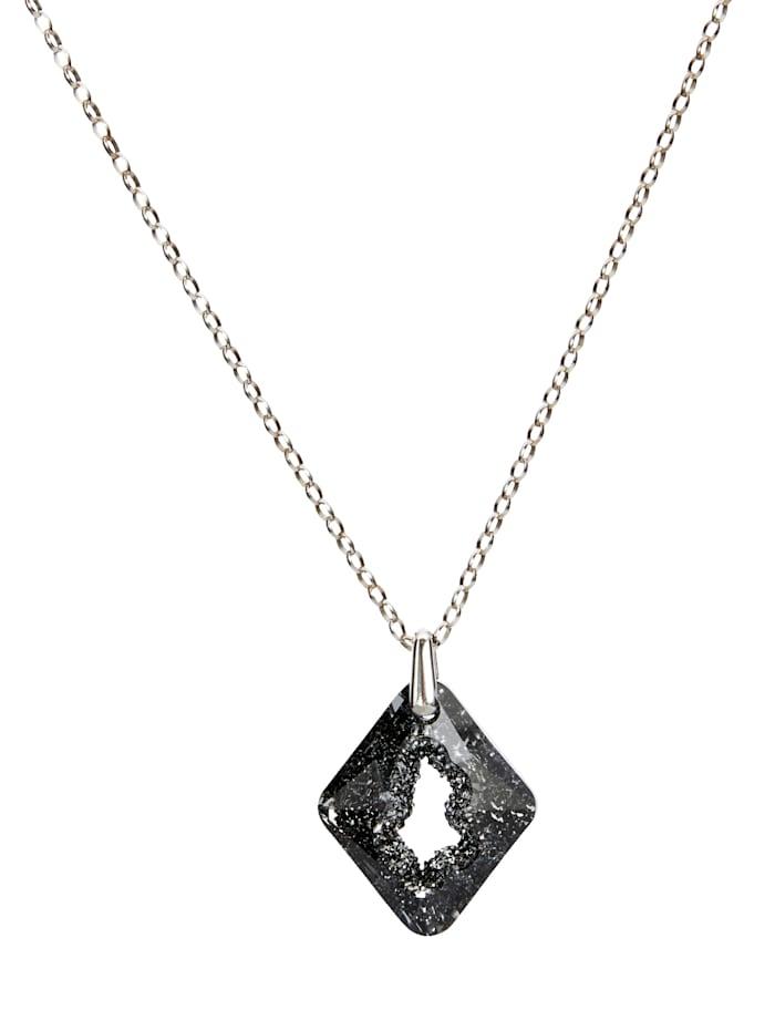 STILOMIO Halskette, Schwarz/Silberfarben