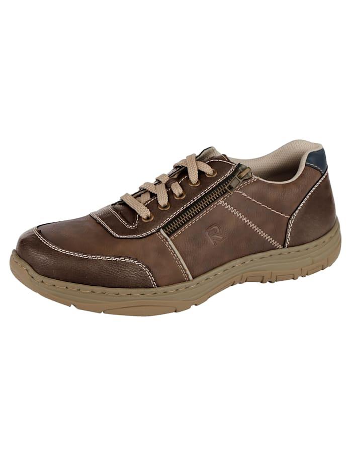 Šnurovacia obuv s moderným prešívaným šitím