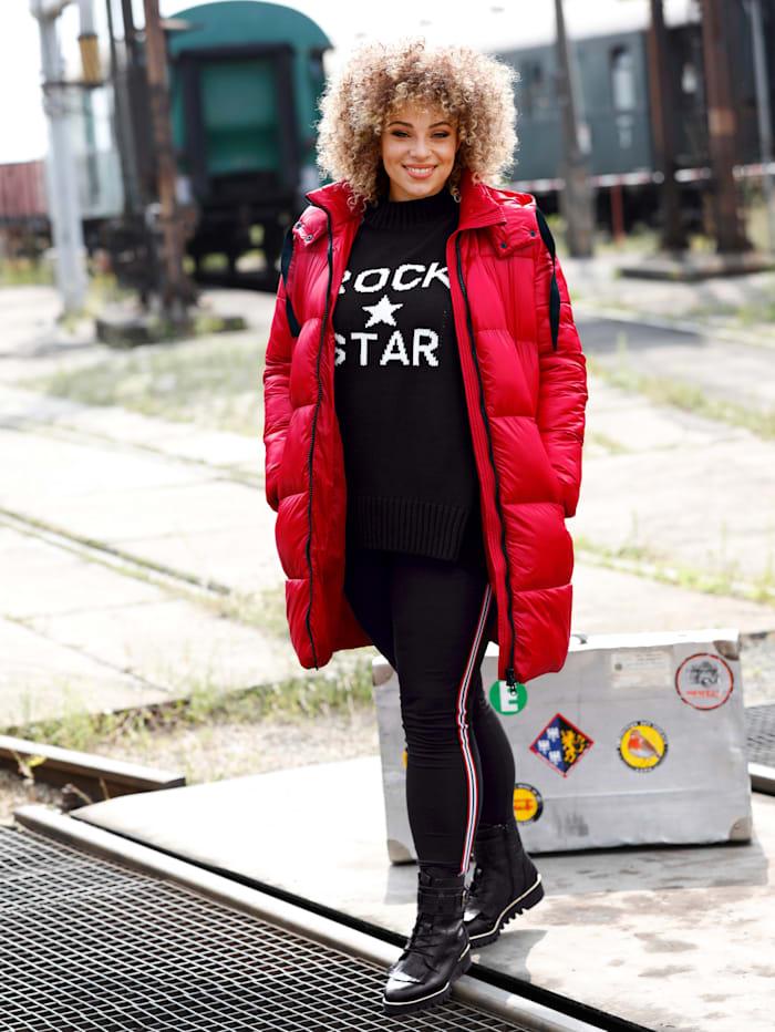 Angel of Style Steppjacke mit edlem Glanz, Rot