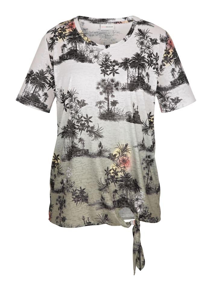 Shirt in modischer Ausbrenner-Qualität