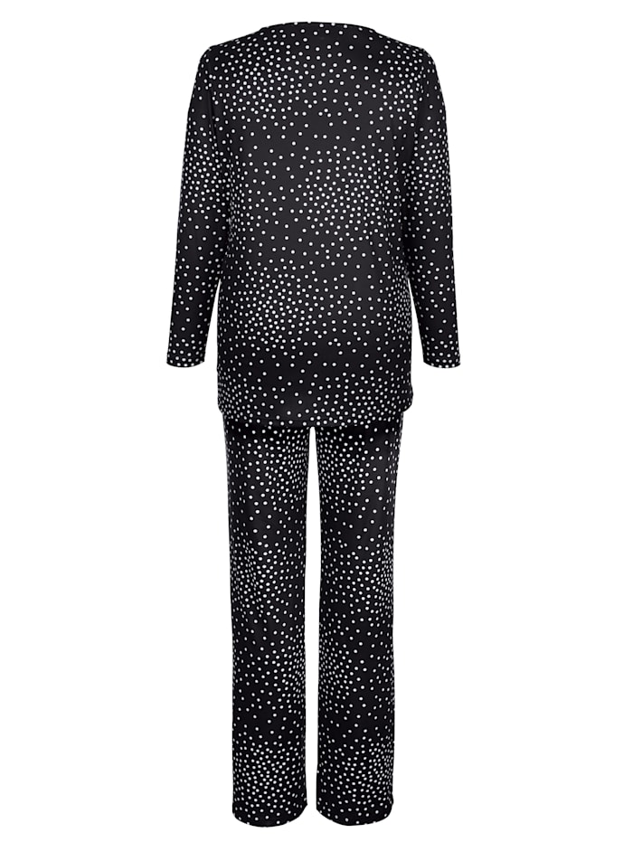 Overdel og bukse med prikkemønster