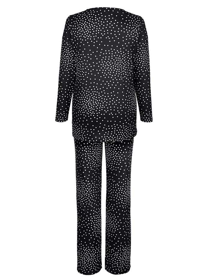 Topp och byxor med prickigt mönster