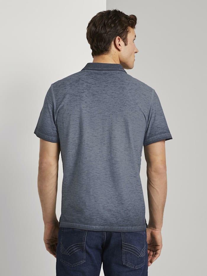 Meliertes Poloshirt im Washed-Look