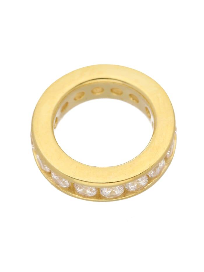 1001 Diamonds 1001 Diamonds Damen Goldschmuck 585 Gold Anhänger Taufring mit Zirkonia Ø 12,4 mm, gold