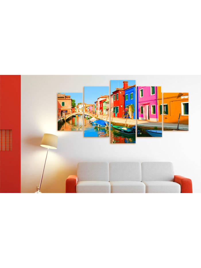 Wandbild Waterfront in rainbow colors
