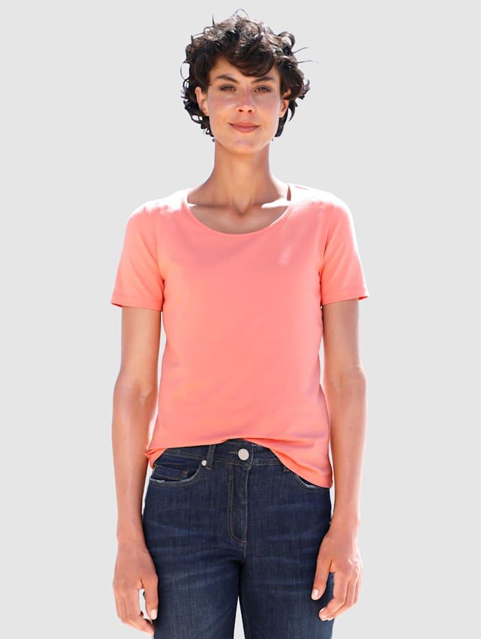Dress In Shirt met hoog katoengehalte, Apricot