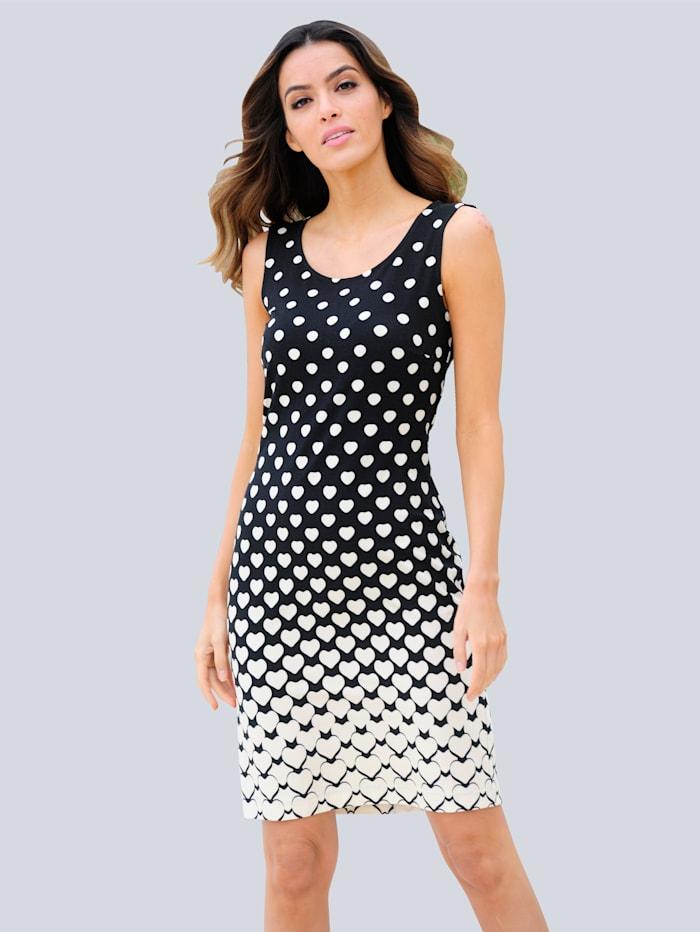 Alba Moda Strandkleid mit verlaufendem Punktedruck, Schwarz