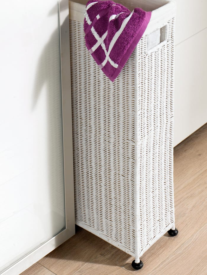 Raumspar-Wäschekorb, Weiß