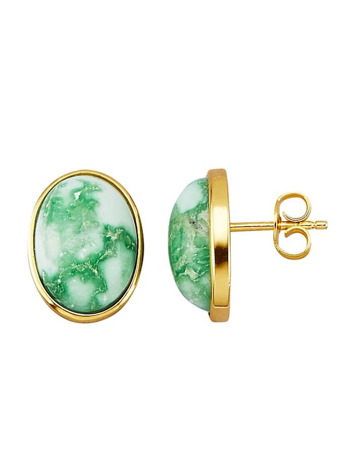 Boucles d'oreilles en argent 925, Vert