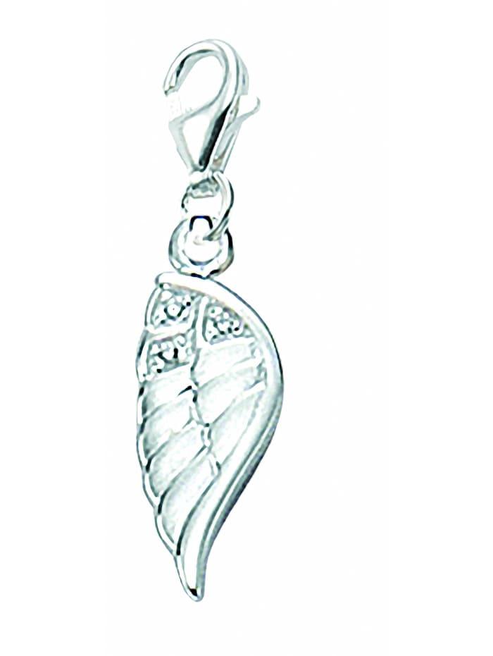1001 Diamonds Damen Silberschmuck 925 Silber Charms Anhänger Flügel mit Zirkonia, silber