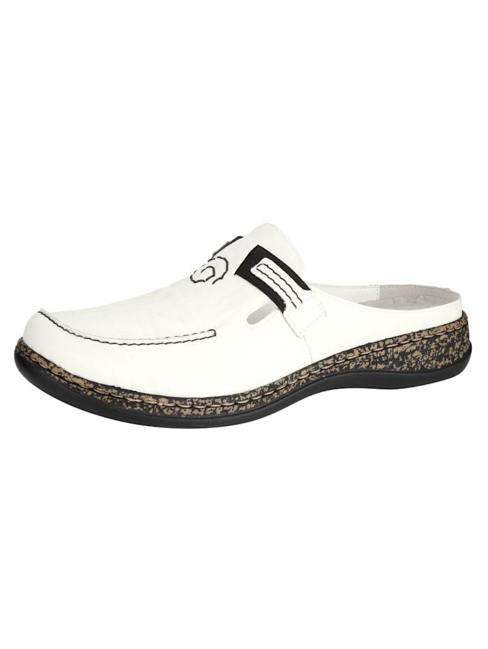 Nazouvací obuv s pěkným ozdobnými šitím
