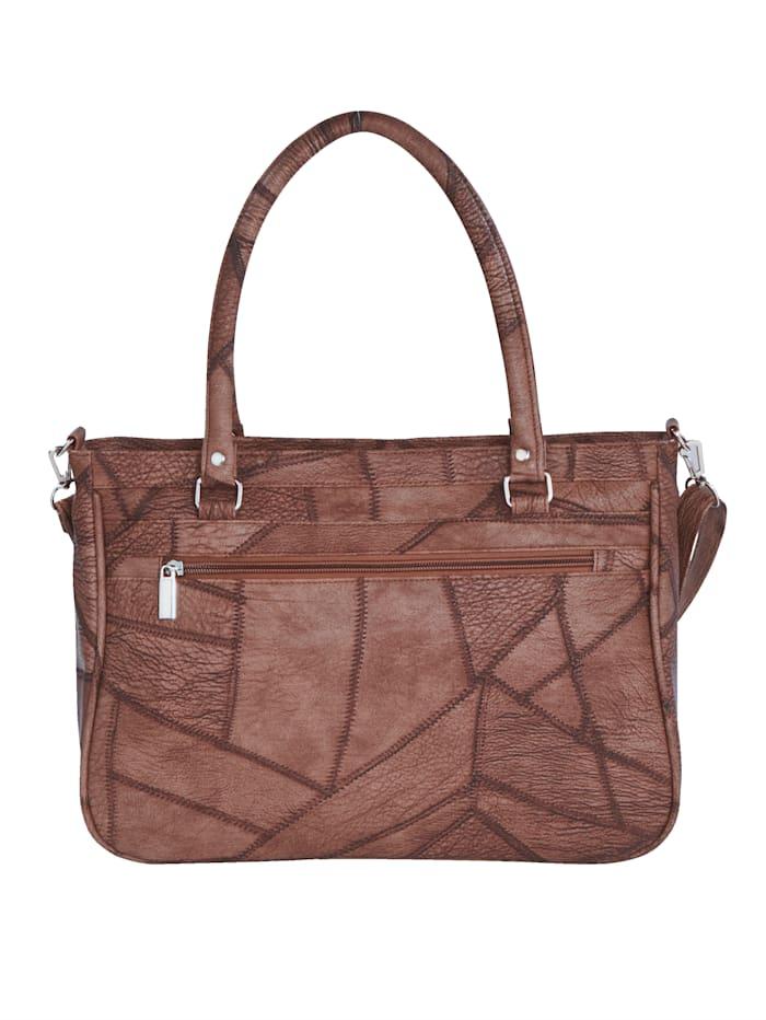 """Väska med """"lappat"""" mönster"""