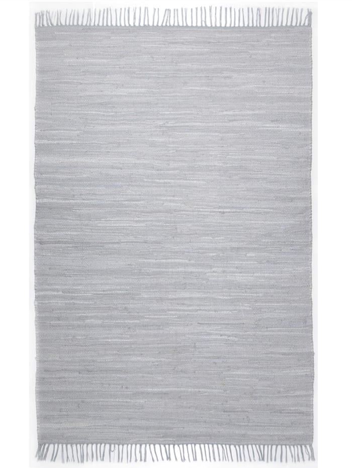 Theko®die Markenteppiche Handwebteppich Ulli, Hellgrau