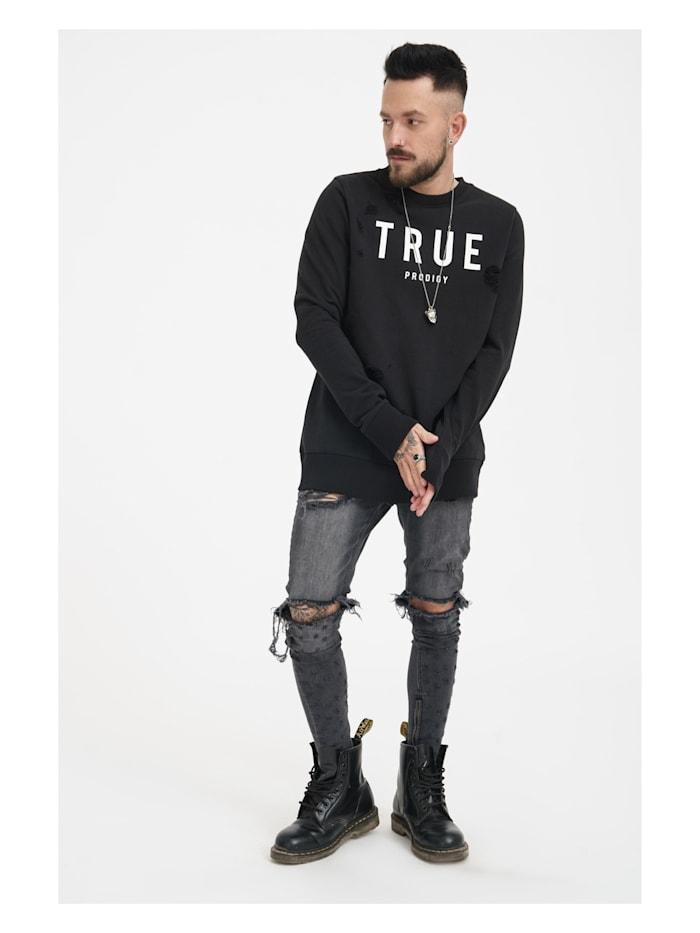 Sweatshirt Flash mit lässigen Used-Effekten