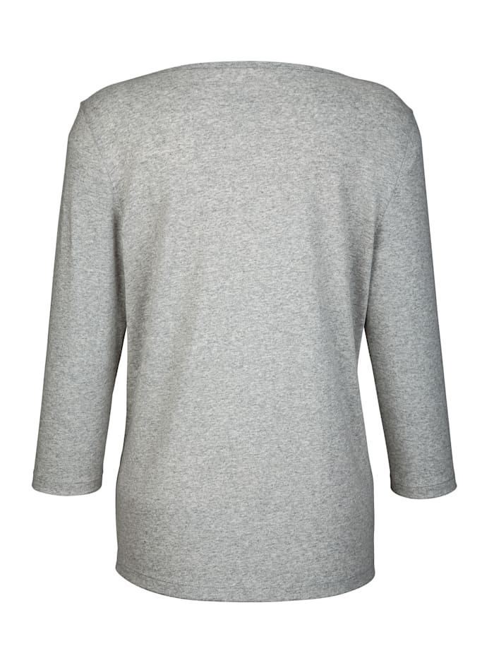 Shirt met aantrekkelijke hals
