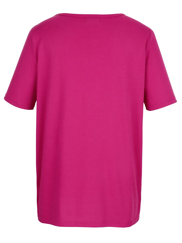 Shirt mit raffinierter Loch-Optik am Ausschnitt